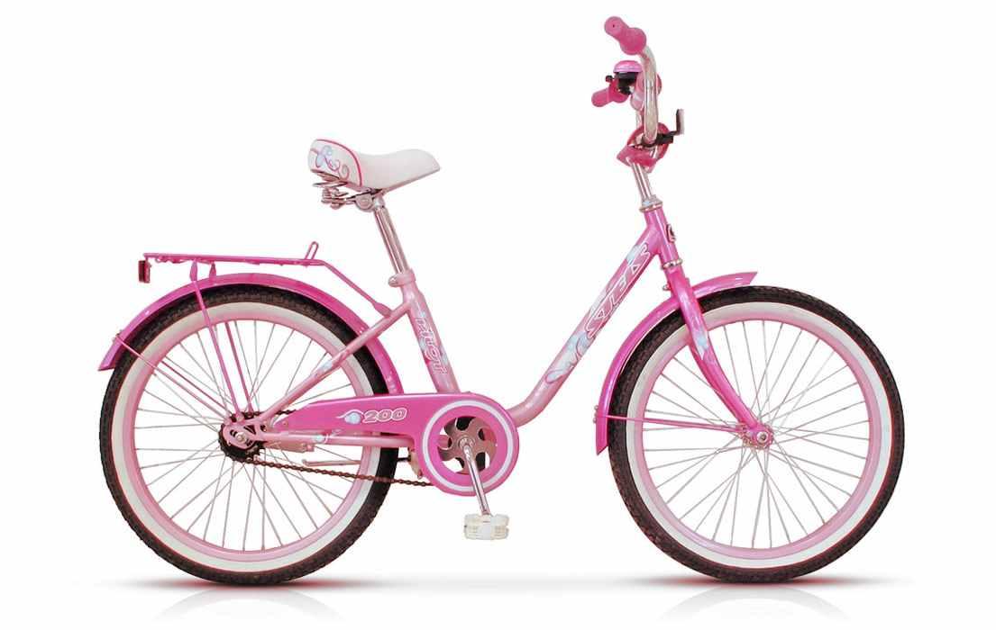 Велосипед девочке розовый 20 дюймов