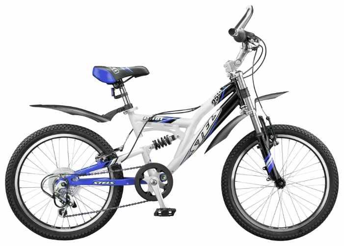 Голубой подростковый велосипед Стелс 250 Пилот