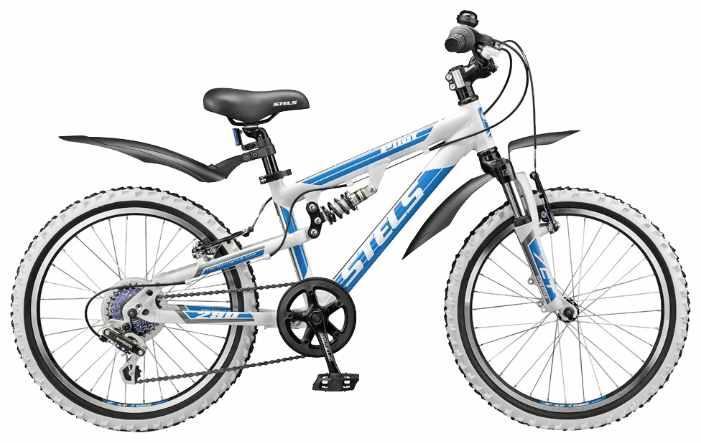 Синий белый подростковый велосипед