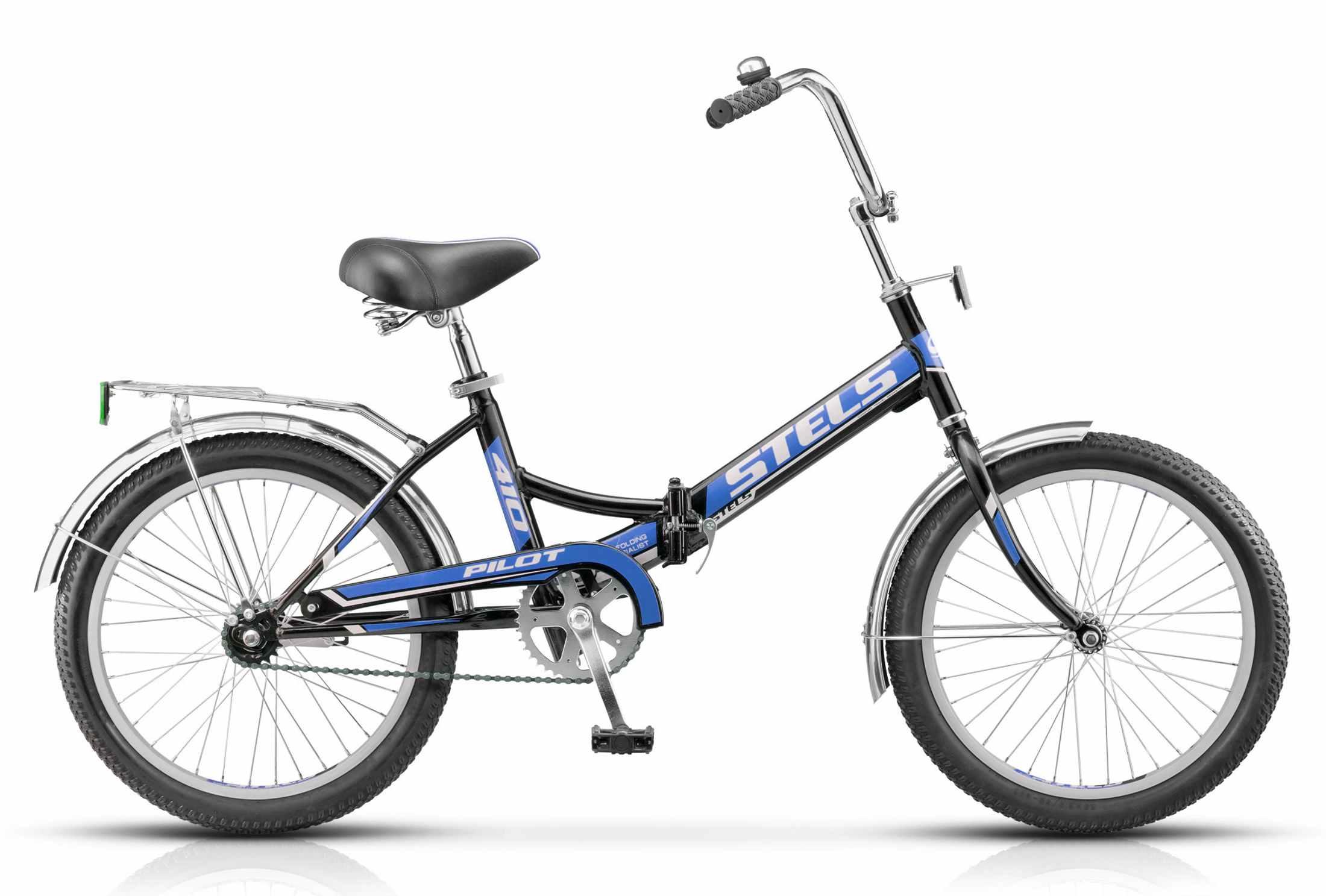 Велосипед Стелс Пилот 410 синий фото