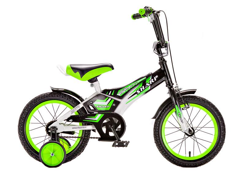 Велосипед Sharp зеленый